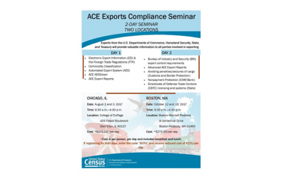 ACE Exports Compliance Seminar – US Census Bureau