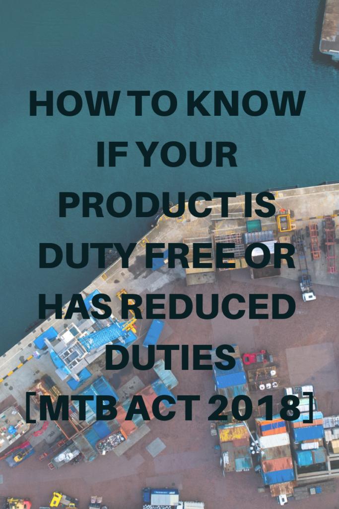 The Miscellaneous Tariff Bill