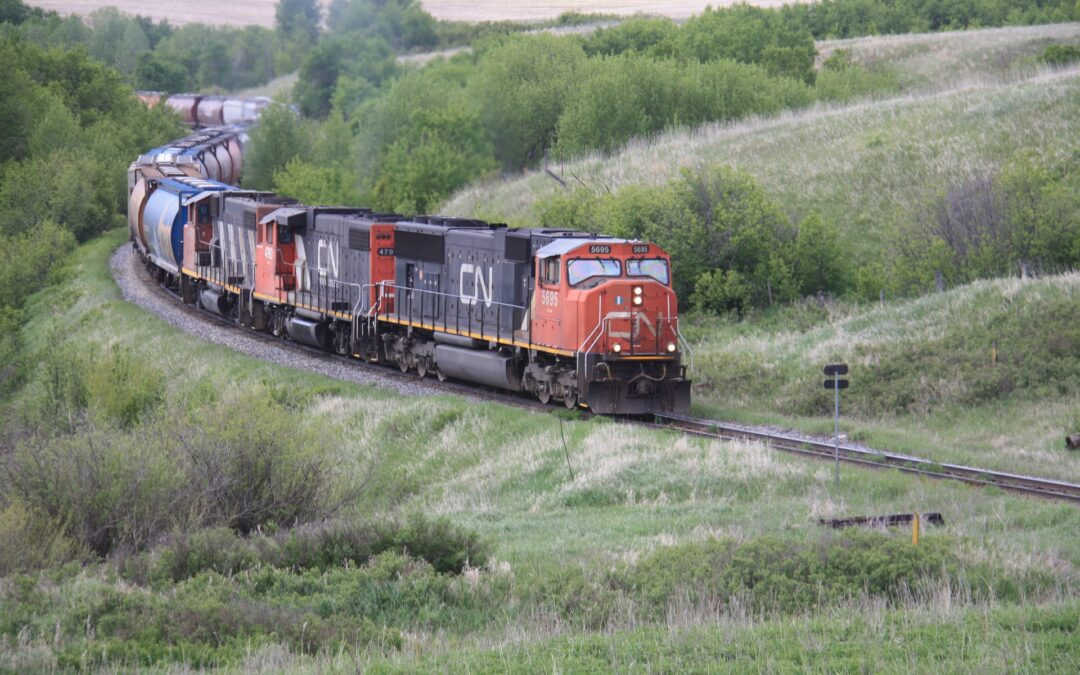 The CN Rail shuts down its rail service in Eastern Canadian Network.